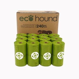 Ecohound SMALL Green Vest Dog Poo Bags On A Roll 240 Bags