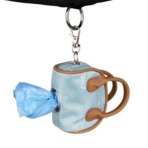 Stylish Dog Dirt Bag Dispenser Imitation Leather In Blue